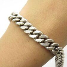 """925 Sterling Silver Thick Heavy Wide Men's Cuban Link Bracelet 8"""""""