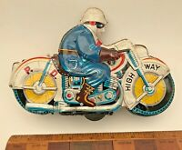 1960s BIG VINTAGE TIN TOY ATC ASAHI JAPAN HONDA POLICE MAN SUPERBIKE MOTORCYCLE!