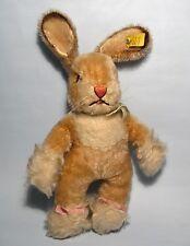 "Vintage 1960's STEIFF""Sassy""Baby Rabbit EAN #7322/04 Script Button Yellow Label"