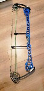 "MATHEWS TRX 8 BOW left hand 29.5"" 70lb Blue super clean"