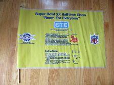 Rare SUPER BOWL XX Half Time Show NEW ENGLAND PATRIOTS vs CHICAGO BEARS Banner
