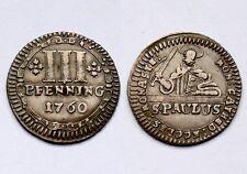 3 Pfenning 1760 Munster (Germany States). St.Paulus. Kupfer. XF. KM#430