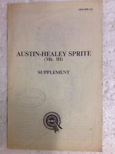 Austin-Healey Sprite MKIII Suplemento akd3899a/1 con / AUSTIN Jefe insepector