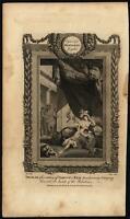 Samson & Delilah ornate dramatic warriors scene c.1785 antique engraved print