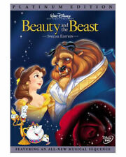 Beauty and the Beast DVD MOVIE 2 Disc Set, PLATINUM Edition DISNEY PRINCESS BELL