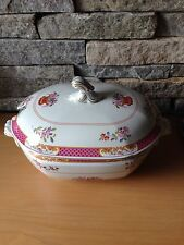 Spode Lord Calvert Tureen & Lid - Pink Floral & Gold Trim