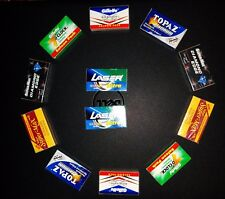 120 mixed INDIAN Double Edge Safety DE Razor Blades sample pack Best price ever.