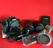 CANON EOS Rebel XSi / EOS 450D Digital Camera with 2 Kit Lens + Accs (Used)