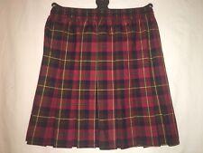 Girls box pleated all round elasticated check tartan school uniform kids skirts.