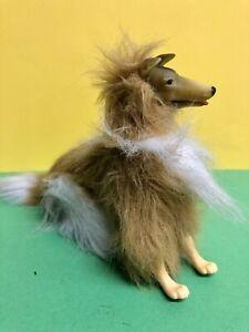 Vintage Mattel Barbie Western  Collie Hund Beweglich