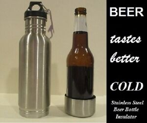 12oz Stainless Steel Insulated Beer Bottle Holder Koozie with Bottle Opener