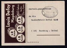 DR. Reklame-Karte, Öle und Fette, Louis Defoy, Magdeburg