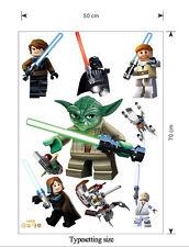 Lego Star Wars YODA Vader Nursery Removable Wall Stickers Deco Vinyl Decal Au