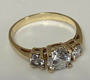 14K Solid Yellow Gold Women's Ring