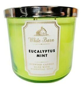 Bath & Body Works White Barn EUCALYPTUS MINT Large 3 Wick Candle 14.5oz NEW