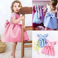 Toddler Baby Girls Party Backless Dress Kids Princess Outfits Clothes Lace Dress
