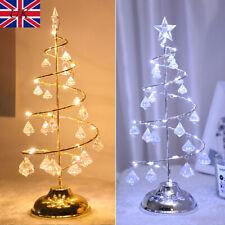 LED Night Light Crystal Christmas Tree Night Lamp Xmas Ornament Table Home Decor