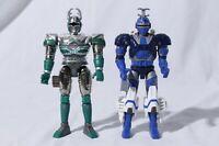 Bandai Beetleborgs Blue Stinger Green Hunter Action Figures