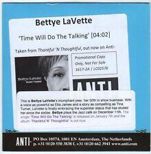 (EM885) Bettye LaVette, Time Will Do The Talking - 2013 DJ CD