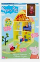 BRAND NEW Peppa Pig Peppa's Home and Garden Playset Character Toy Set - Free P&P
