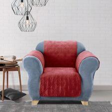 Soft Suede Wing Chair/Recliner Pet Throw  waterproof NON SLIP wine