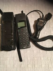 Vintage NEC GSM Mobile Phone With Leather Case And Charger