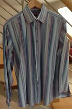 MENS PAUL SMITH LONDON STRIPED LONG SLEEVED SHIRT 17.5 Collar 44 Chest - Mint
