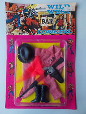 VINTAGE - WILD WEST COWGIRL -70er JAHRE FASHION OUTFIT  29cm PUPPE MODEPUPPE OVP