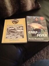 2 s/b carp fishing books ,carp fever kevin maddocks & carp fishing tony wheildon