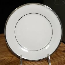 """Lenox Solitaire China Dinner Plate 10.75"""" Inches Ivory Platinum Silver Band NEW"""