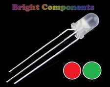 5 x Bi-Colour Diffused LED 5mm  - Red/Green - UK - 1st CLASS POST