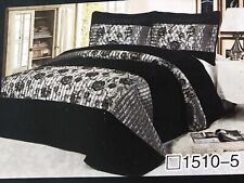 Luxury Poly-Cotton Coverlet / Bedspread Set Queen &  King Size Bed 230x250cm!