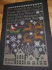 Completed Cross Stitch - Prairie Schooler Santa's Night Sampler