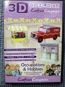 Crafters Companion 3D Builder Occupations & Hobbies CD Rom