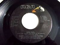 Hall & Oates Rich Girl / London Luck & Love 45 1976 RCA Vinyl Record