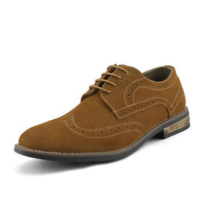 Mens Suede Leather Business Dress Shoes Lace up Oxfords Shoes Size 6.5-15