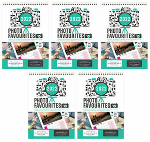 5 x Make Your Own Personalised A4 Photo Calendar 2022 Add Pictures Gift YPP22