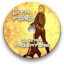 LITA FORD ROCK GUITAR TAB TABLATURE SONG BOOK ANTHOLOGY SOFTWARE CD
