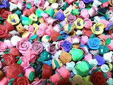 250 Large Fimo Polymer Clay Flower Fimo Colorful Beads 8mm-13mm Variety Set