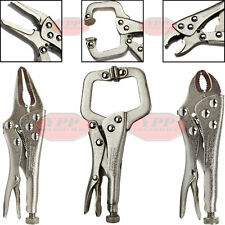 3 PC. Maxcraft Professional Mini Vise Grip Locking Pliers Plier Set C Clamp New