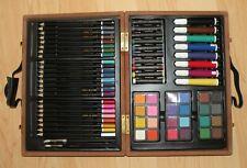 82 Piece Deluxe Art Supplies Set in Wooden Case