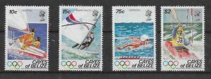 BELIZE CAYES 1984 OLYMPICS SET MNH