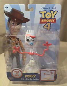 "FORKY with WACKY ACTION 6"" Figure Toy Story 4 PULL 'N GO Disney Pixar NEW/SEALED"
