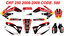 580 HONDA CRF 250 2006 2007 Autocollants Déco Graphics Stickers Decals Kit