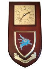 Airborne Pegasus Parachute Regiment Military Shield Wall Plaque Clock