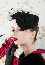 Womens Dress Fascinator Wool Felt Cocktail Hat Wedding Church Royal Ascot A042