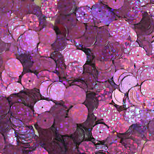 10mm Flat SEQUIN Loose PAILLETTES ~ VIOLET Laser MULTI  HOLOGRAM ~ Made in USA.