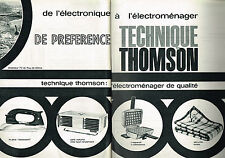 PUBLICITE ADVERTISING   1962   THOMSON   éléctroménager  ( 2 pages)