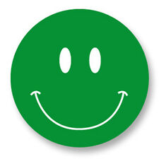 "Pin Button Badge Ø25mm 1"" Smiley Face Smile Smiling Happy Face Vert Green"