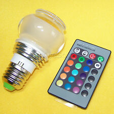 E27 7 Color Changing 5W Rgb Led Light Bulb Lamp 85V - 240V + Remote Control